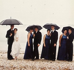 claire wedding group on beach 1
