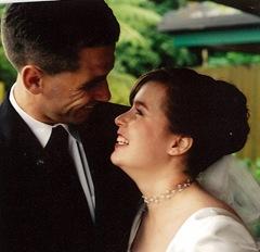 claire wedding happy 1