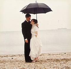 claire wedding on beach 1